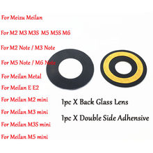Nieuwe Originele Rear Back Camera Glas Lens Cover + Plakband voor Meizu Meilan M2 M3 M3s M5 M5s M6 note Mini Metalen E E2(China)