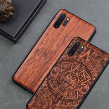 Phone Case For Samsung galaxy note 10 note 9 Original Boogic Wood TPU Case For Samsung s10 s20 note 10 plus Phone Accessories