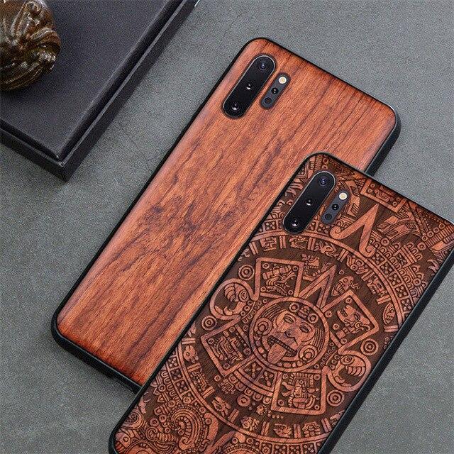 Чехол для телефона Samsung galaxy note 10, note 9, Оригинальный Деревянный чехол Boogic из ТПУ для Samsung s10, s20, note 10 plus, аксессуары для телефона