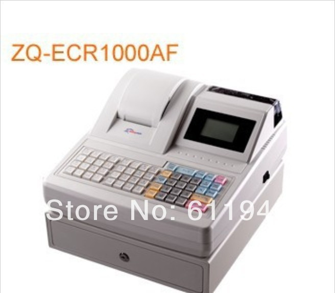 Low Cost! 1PC ZQ-ECR1000AF Electronic Cash Register All-in-one Fast Food Store Cash Register Machine
