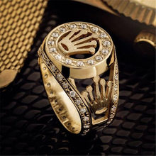 Moda hip hop estrela cruz coroa anel masculino acessórios do vintage punk rock grande biker signet anel de prata cor tibetana jóias