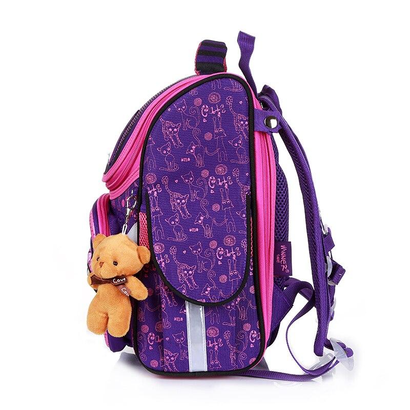 New Fashion Cartoon School Bags Backpack for Girls Boys Bear Cat Design Children Orthopedic Backpack Mochila Infantil Grade 1-5 4