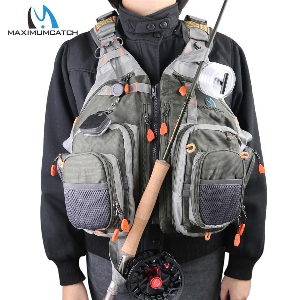 Maximumcatch Adjustable Mesh Fishing Vest With Multifunction Pockets OUtdoor Backpack Fly Fishing Jacket フィッシング ベスト バック パック 一 体型