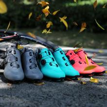 Santic obuwie rowerowe MTB Sneaker Anti-ubiór antypoślizgowy zawód samoblokujący rower sportowy buty MS19003 tanie tanio CN (pochodzenie) Prawdziwej skóry Dla dorosłych Buty rowerowe Cotton Fabric Gumką Pasuje prawda na wymiar weź swój normalny rozmiar