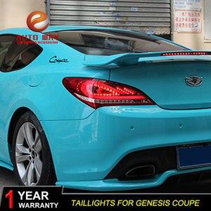 Estilo do carro caso para hyundai genesis coupe lanternas traseiras luzes traseiras led lâmpada de cauda lâmpada traseira drl genesis coupe 2009-2012 luzes traseiras