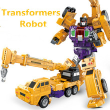 Transformation Robot Car Kids Deformation Robot Action Figures Toy For Boy Vehicle Model Children's Gift Anime Cars Super Hero hot robot super wings toy deformation donnie toolbox airplane robot action figures super wing transformation tool box toy gift