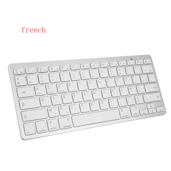 1set Wireless Keyboard Mouse Slim Bluetooth Keyboard with Mouse  French Letters BT PC Keypad for Laptop, Notebook,Macbook Pro 1