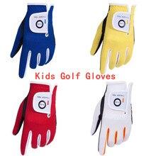 Детские перчатки для гольфа с левой рукой и правой, с защитой от дождя, дышащие, мягкие, для детей младшего возраста, Lh, Rh, s, m, l, прочные, 2 шт. в упаковке, для детей 2-10 лет