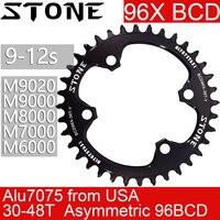 Stein Kettenblatt 96 BCD runde oval für M7000 M8000 M9000 m9020 MTB Bike Kette Rad 30t 34 36 38 40 42 44 46T 48T 96bcd 12 geschwindigkeit
