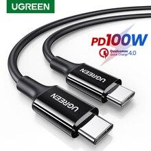 UGREEN 100W cavo da USB C a USB C PD cavo di ricarica rapida 5A 100W tipo C cavo per MacBook iPad Pro caricabatterie rapido cavo PD USB C