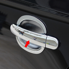 цена на ABS Chrome For For Ford Kuga Escape 2013-2017 Accessories Car door protector Handle Decoration Cover Trims Sticker styling 8pcs