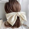 Hohe Quatity Einfarbig Großen Bogen Haarnadeln Für Mädchen Beliebte Haar Clip Für Frauen Süße Zwei-schicht Satin Hairgrip haar Zubehör