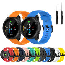 22mm pulseira para garmin forerunner 945 935 fenix 5 plus fenix 6 silicone relógio inteligente banda esportes ao ar livre à prova dwaterproof água