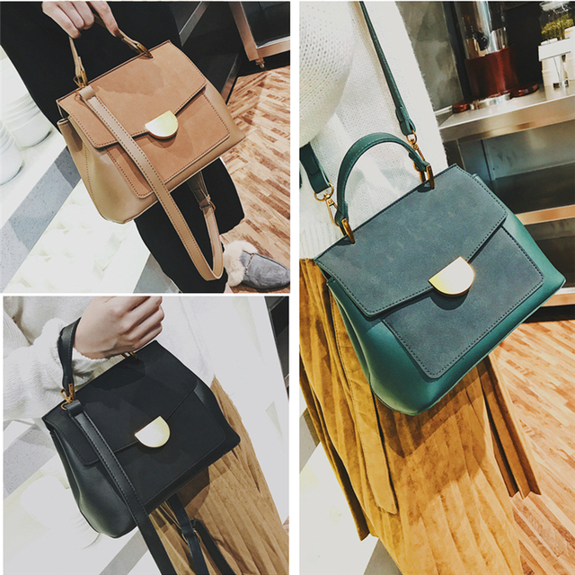 Burminsa Winter Suede Women Messenger Bags Small Soft PU Leather Handbags Retro High Quality Young Ladies Shoulder Bags 2019 2