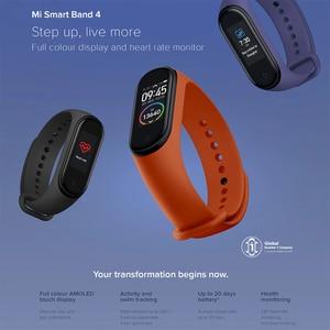 Image 2 - Оригинальный Xiaomi Mi Band 4 глобальная Версия смарт Браслет фитнес браслет Miband Band 4 пульсометр 3 цвета экран Smartband