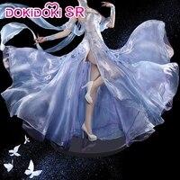 DokiDoki SR Anime Re Zero Emilia Cosplay Women Re: Starting life in a different world from zero Cosplay Costume Dress Emilia