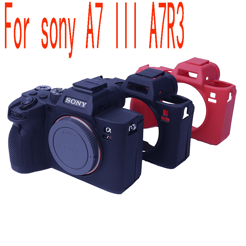 Soft Silicone Rubber Mirrorless System Camera Silicone Case Cover  Bag For SONY A7III A7 Mark 3 A7RM3 A7R3 A7RIII A7M3