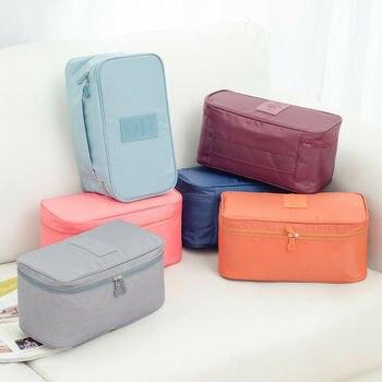 Hot Fashion Solid color waterproof Bra Underwear Socks Cosmetic Packing Cube Storage Bag Travel Luggage Organizer handbag