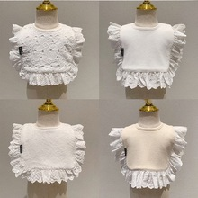 INS Korean version of cotton spring, autumn and winter bib baby blouse, saliva towel, bib, trendy saliva pocket 0-3 years old