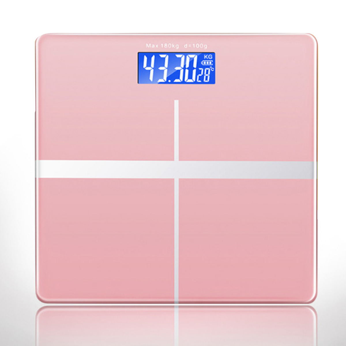 180KG Digital Weighing Scale Electronic USB Rechargeable Weight Scale with Temperature Display