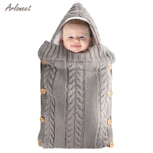 Blanket Knit Sleeping Bag Stroller Wrap for Baby Swaddle Blanket 0-6 Month