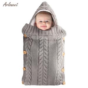 Wrap Swaddle Blanket Stroller-Wrap Sleeping-Bag Newborn-Baby Cute Knit for 0-6-Month