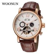 Роскошные мужские часы из розового золота модные часы Tourbillon Мужские многофункциональные автоматические механические часы наручные мужские Reloj