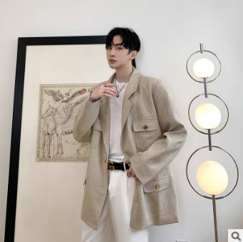 Jacket Loose-Spring-Suit Homemade Casual-Suit Temperament Korean-Fashion Small Tide Fragrance