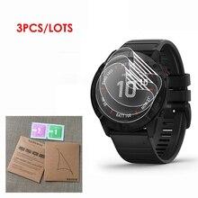 3 paket Garmin Fenix 6 6s 6x5 5S 5X artı 5X artı tam kapsama yumuşak TPU ekran koruyucu tam ekran GPS Smartwatch Film