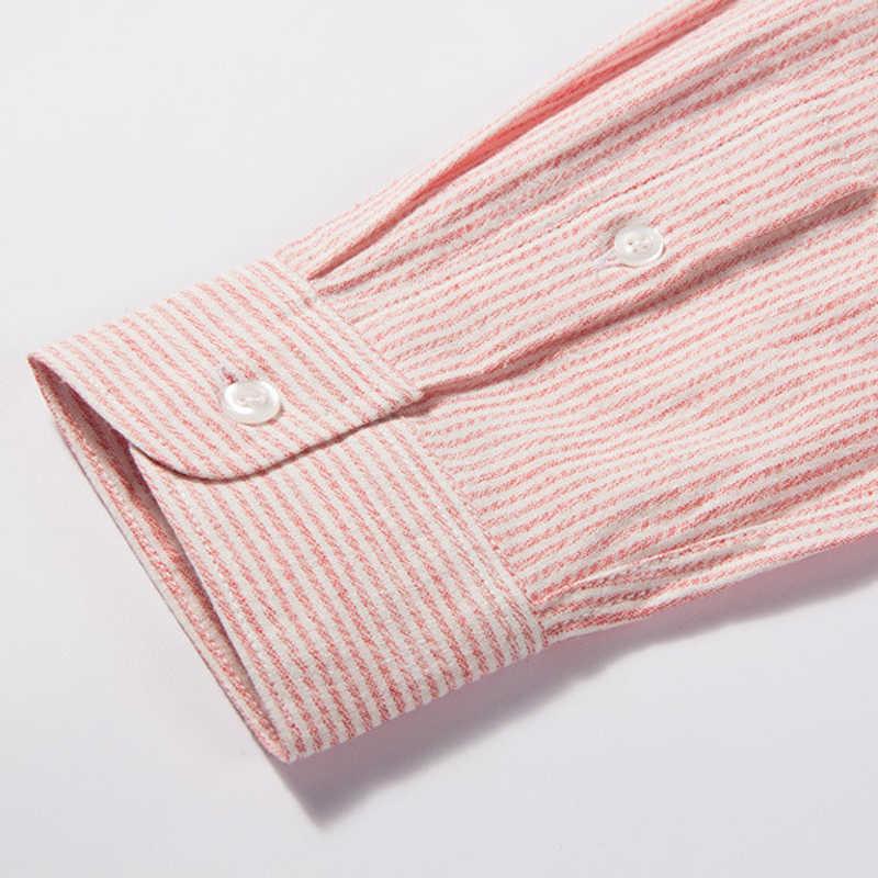 Slim Fit cienkie letnie męskie ubranie koszule Casual Mans