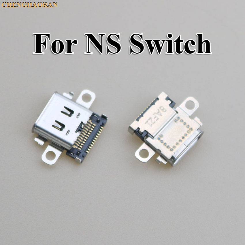 ChengHaoRan 2pcs 5pcs 10pcs Original New USB Type-C Charging Socket Port Power Connector For Nintend NS Switch Console