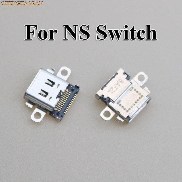 ChengHaoRan 2pcs 5pcs 10pcs Originele Nieuwe USB Type C Opladen Socket Port Power Connector voor Nintend NS Switch Console