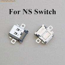Chenghaoran 2 pces 5 pces 10 pces original novo usb tipo c porto de carregamento soquete conector de alimentação para nintend ns switch console