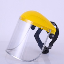 Anti-Saliva Splash Dustproof Mask Transparent PVC Safety Faces Shields Screen Spare Visors Head helmet Respiratory protection