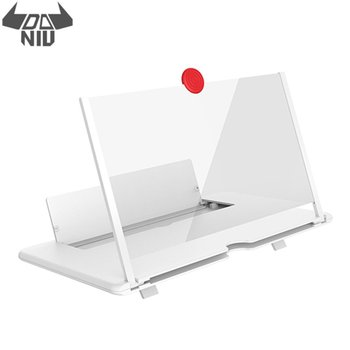 DANIU Pull Typer Cell Phone Amplifier 3D Effect High Definition Large Screen with Desk Holder Magnifying Folding for Movie Game
