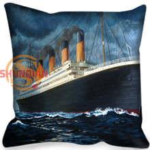 Hot Custom Titanic Square Pillowcase Custom Zippered Bedroom Home Pillow Cover Case 35X35cm,40x40cm