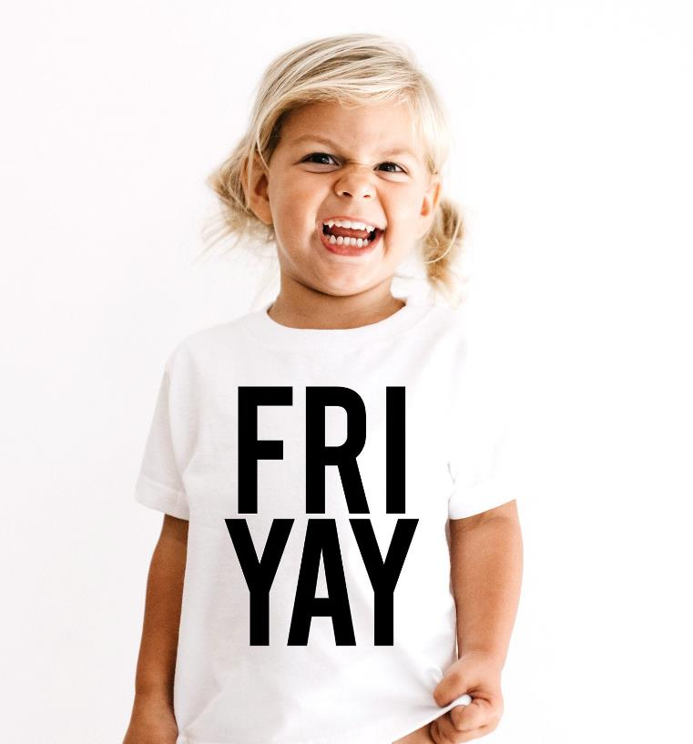Friyay Print Kids tshirt Boy Girl t shirt For Children Toddler Clothes Funny Tumblr Top Tees Drop Ship CZ-81 image