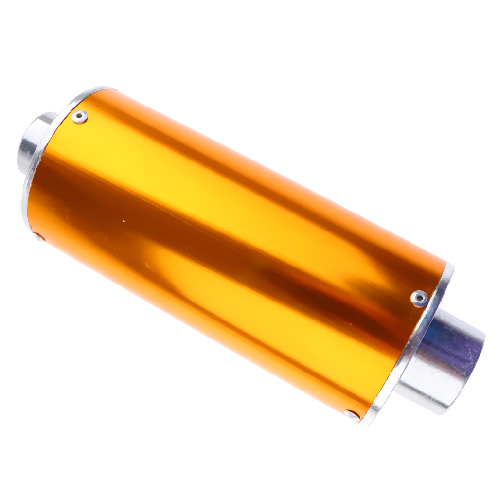 Exhaust Muffler Carbon Fiber for Street Sport Motorcycles and Scooters with 28mm Diameter Exhaust Pipes