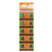 10 pçs botão moeda pilha bateria ag10 1.5v assistir baterias sr54 389 189 lr1130 sr1130 brinquedos controle remoto transporte da gota