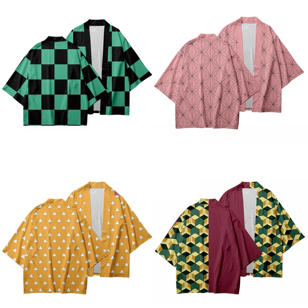2020 Anime Kimono Demon Slayer Kimetsu No Yaiba New Design Japan Kimono Haori Yukata Cosplay Women/Men Summer Casual Clothes