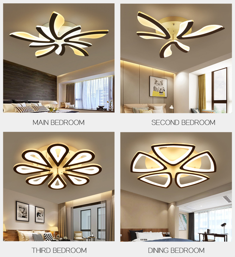 He4984844e5104eceaeaa8126045f00c2k LED Ceiling Lights Dandelion Indoor Ceiling Lamp Modern Simple Post-Modern Living Room Bedroom Dining Room Study Room
