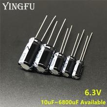 6.3V 10/22/33/47/100/150/220/330/470/560/680/820/1000/1200/1500/1800/2200/3300/3900/////condensateur électrolytique en aluminium, 4700/6800uF