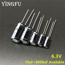 6.3V 10/22/33/47/100/150/220/330/470/560/680/820/1000/1200/1500/1800/2200/3300/3900/capacitor eletrolítico de alumínio 4700/6800uf