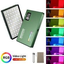 Soonpho rgb led câmera luz de saída de cor cheia kit de luz de vídeo pode ser escurecido 2500k-8500k bi-color painel de luz cri 95 +