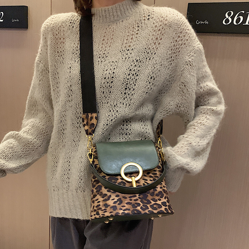 Fashion Tote Bucket Bag Leopard Women Velour Messenger Handbags Designer Shoulder Female Bag Crossbody Luxury Handbag Lady Small