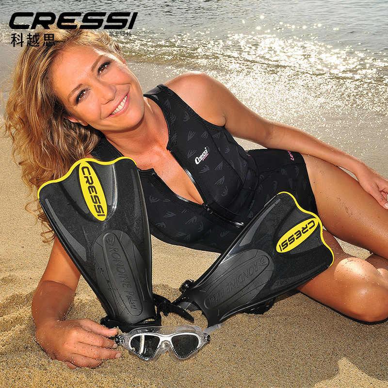 Cressi Palau Saf Korte Zwemmen Vinnen Snorkelen Fin Voor Volwassenen Blauw Geel Roze
