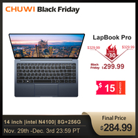 CHUWI LapBook Pro 14 Inch Narrow Bezel FHD Screen Laptop Windows10 Quad Core intel Gemini Lake N4100 8GB RAM 256GB SSD Notebook