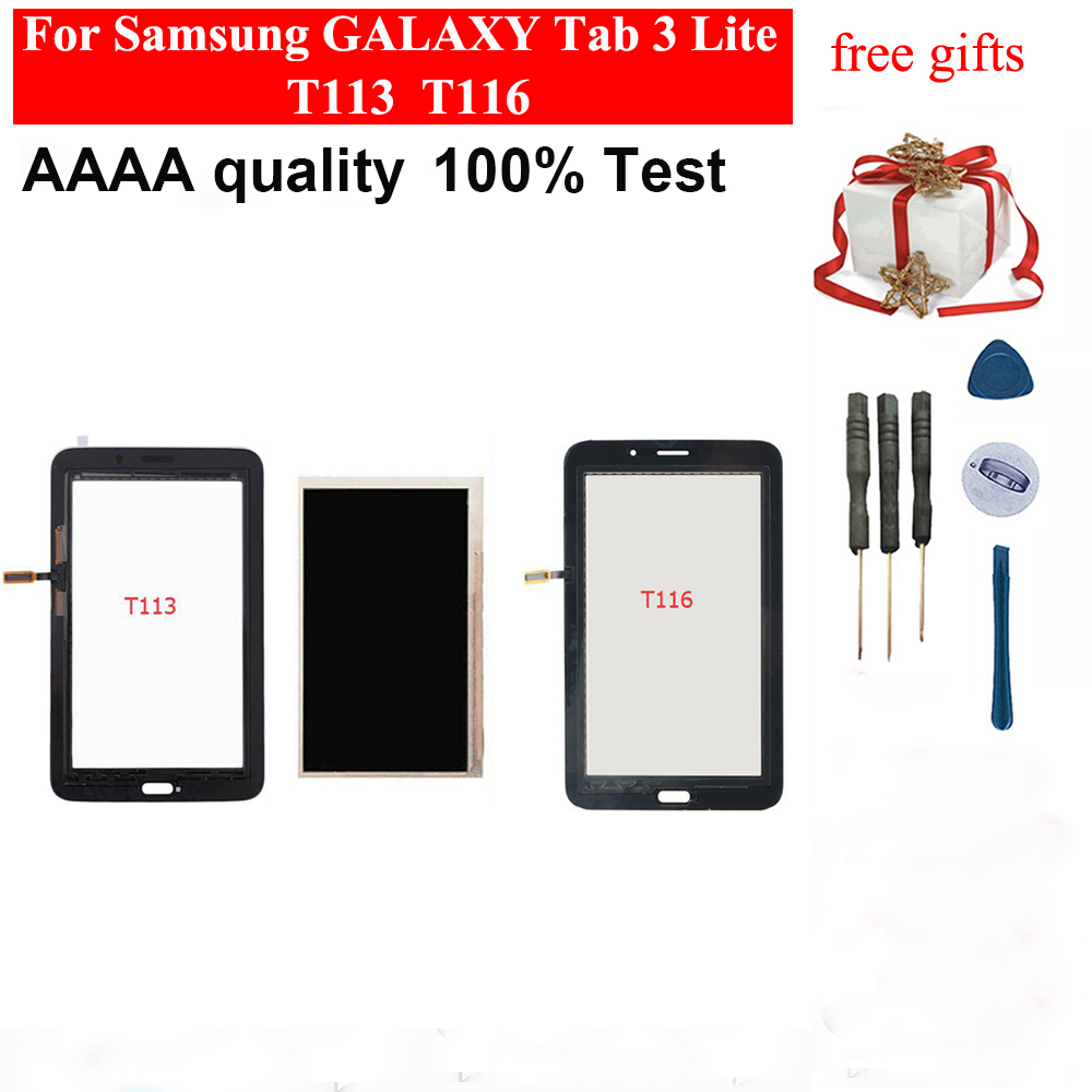 For Samsung GALAXY Tab 3 Lite SM- T113 T116 T110 T111 Touch Screen Sensor Digitizer + LCD Display Screen Panel