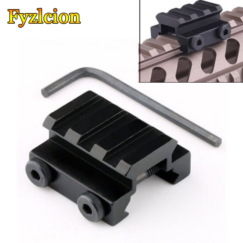 1pcs Tactical  FLAT TOP HALF 1/2 INCH MINI RISER BLOCK MOUNT 3 SLOT PICATINNY RAIL