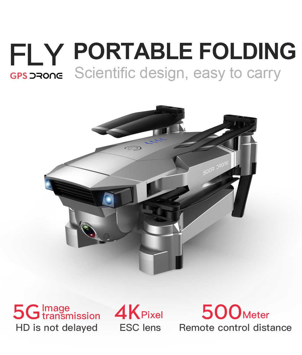 SG907 50X Zoom GPS Drone 4K Cámara dual de HD-amplio ángulo de Anti-shake 5G WIFI FPV RC Quadcopter plegable profesional de GPS sigue en mí